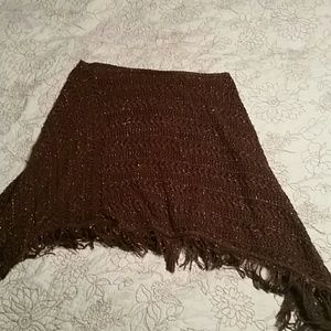Sweaters - Brown and copper shawl..so hobo